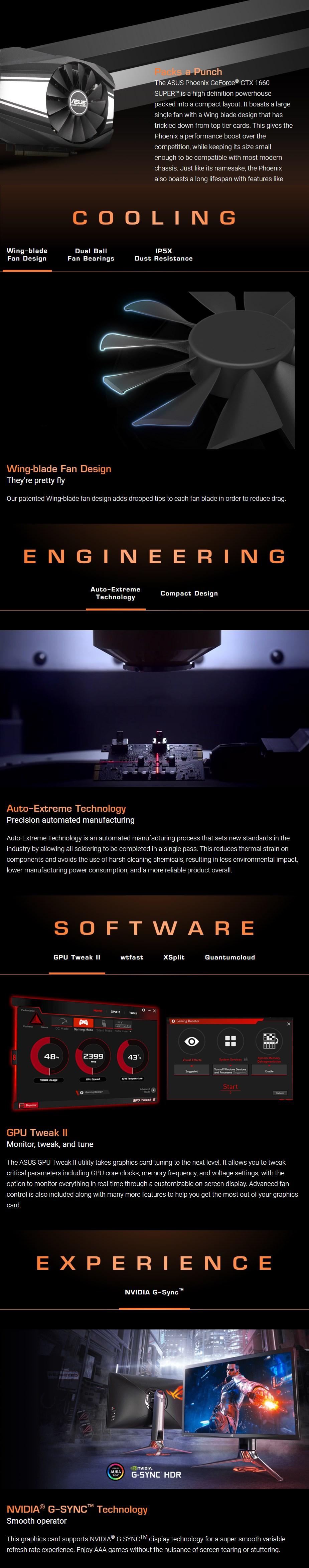 ASUS GeForce GTX 1660 SUPER Phoenix OC 6GB Video Card - Overview 1