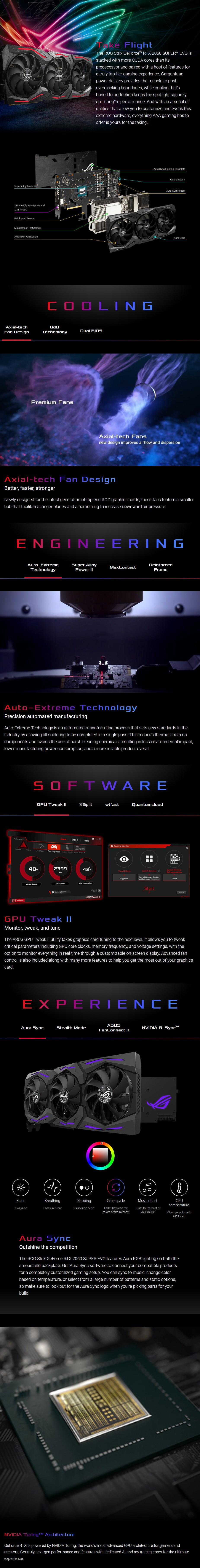 ASUS GeForce RTX 2060 SUPER ROG Strix EVO Gaming Advanced 8GB Video Card - Overview 1