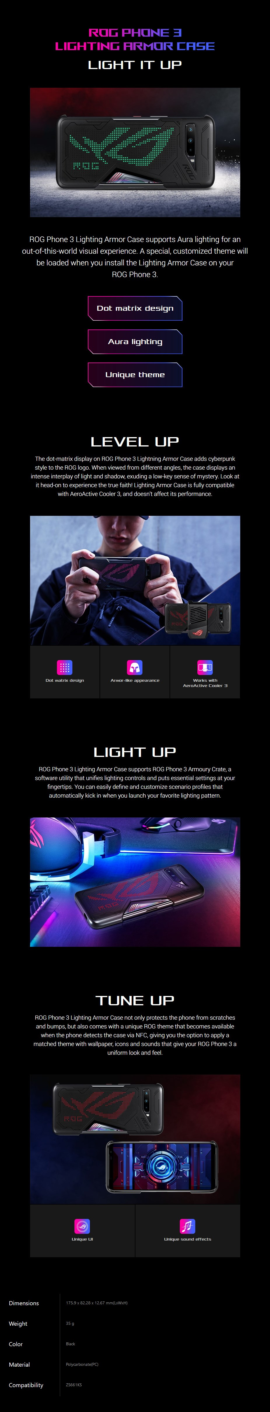 ASUS Light Armour Case for ROG Phone 3 - Overview 1