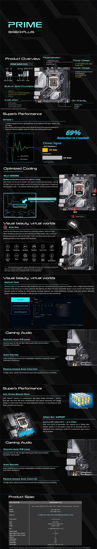 ASUS PRIME B460I-PLUS LGA 1200 Mini-ITX Motherboard - Overview 1