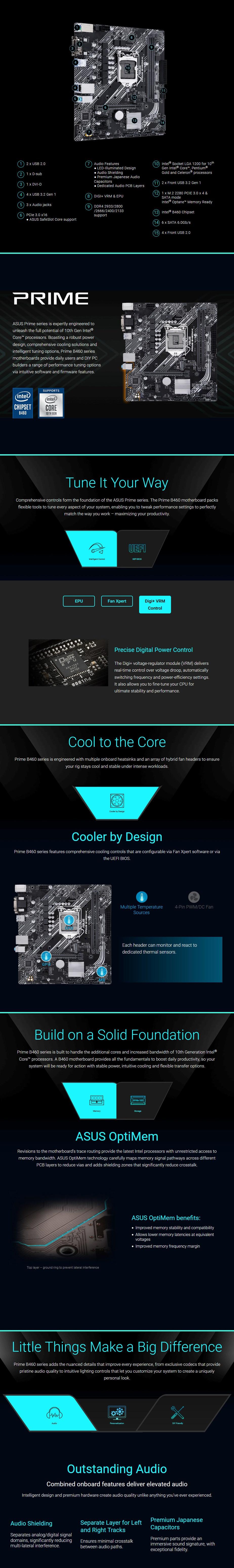 ASUS PRIME B460M-K LGA 1200 Micro-ATX Motherboard - Overview 1