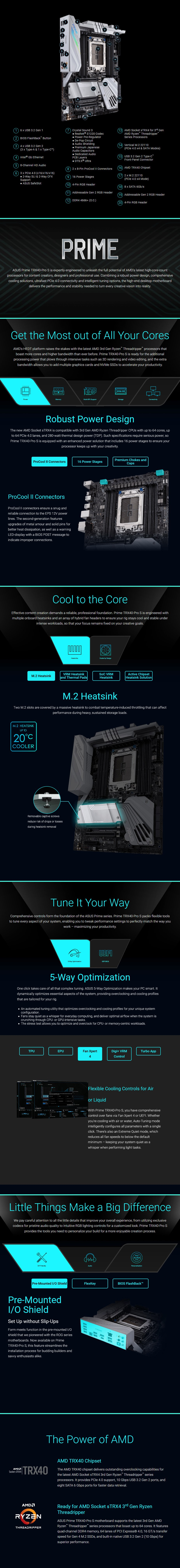 ASUS PRIME TRX40-PRO S sTRX4 ATX Motherboard - Overview 1