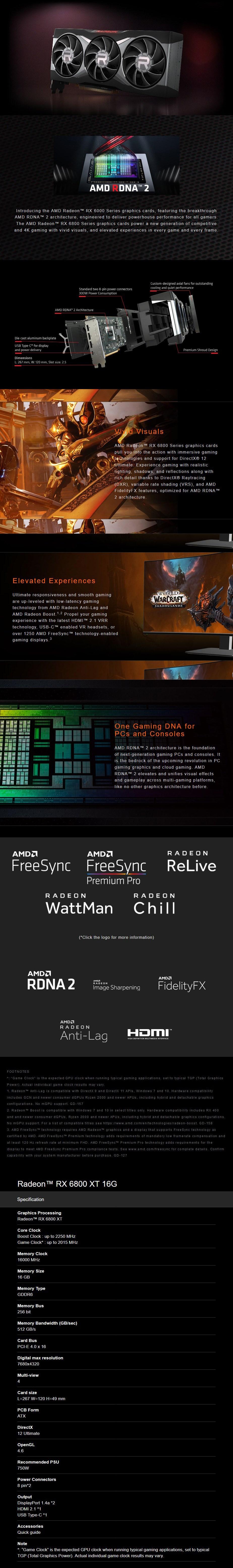 MSI Radeon RX 6800 XT 16GB Video Card - Overview 1