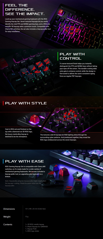 ASUS ROG 8-Key PBT Keycap Set - Overview 1