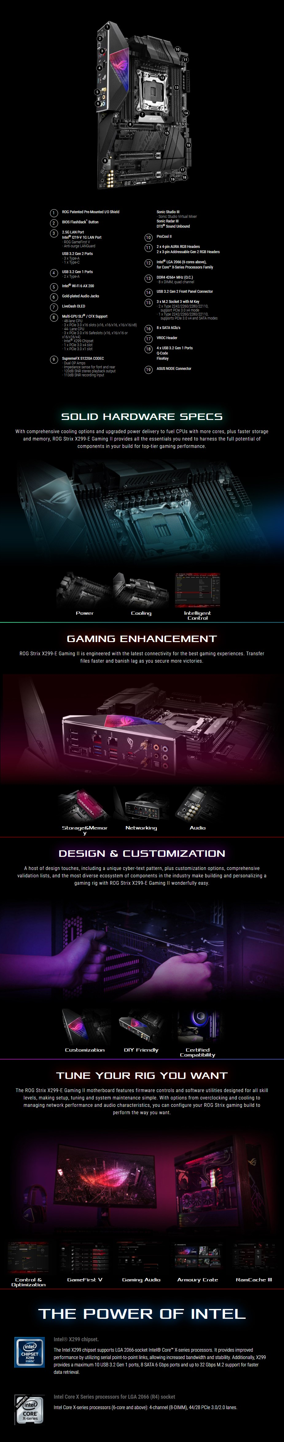 ASUS ROG Strix X299-E Gaming II LGA 2066 ATX Motherboard - Overview 1
