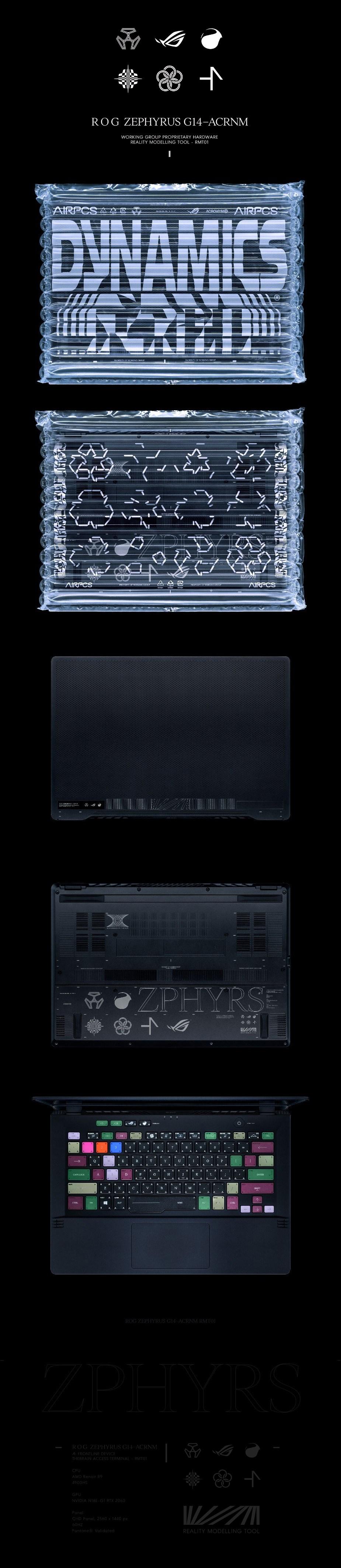 """ASUS ROG Zephyrus G14-ACRNM 14"""" Laptop R9-4900HS 32GB 1TB RTX2060 W10H - Overview 1"""