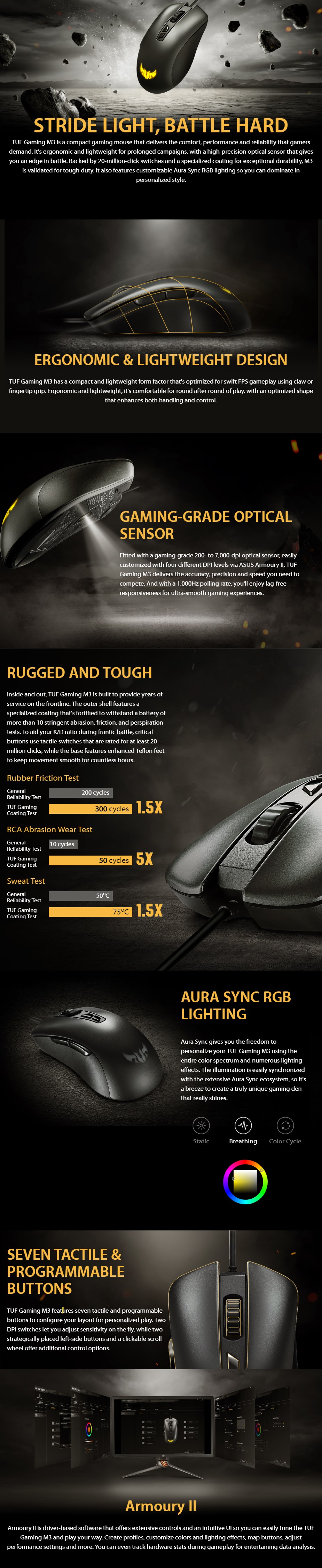 ASUS TUF Gaming M3 Optical Gaming Mouse - Overview 1