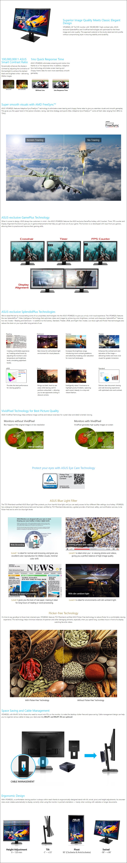 "ASUS VP248QGL 24"" 75Hz Full HD 1ms FreeSync TN Gaming Monitor - Overview 1"