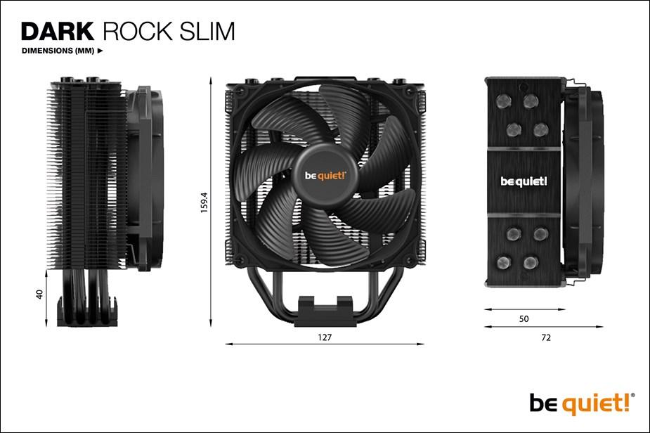 be quiet! Dark Rock Slim CPU Air Cooler - Overview 3