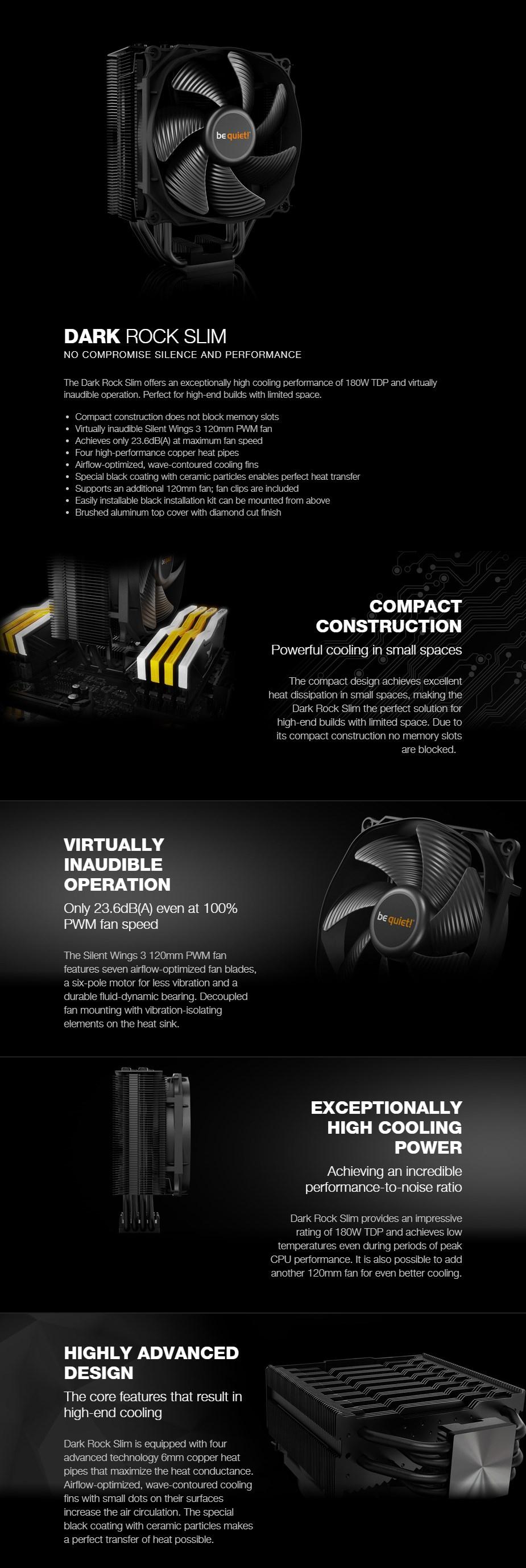 be quiet! Dark Rock Slim CPU Air Cooler - Overview 1