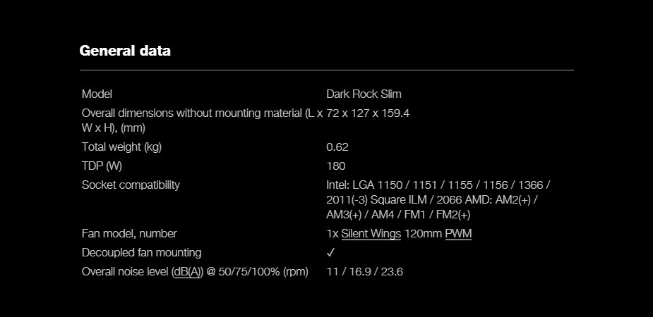 be quiet! Dark Rock Slim CPU Air Cooler - Overview 2