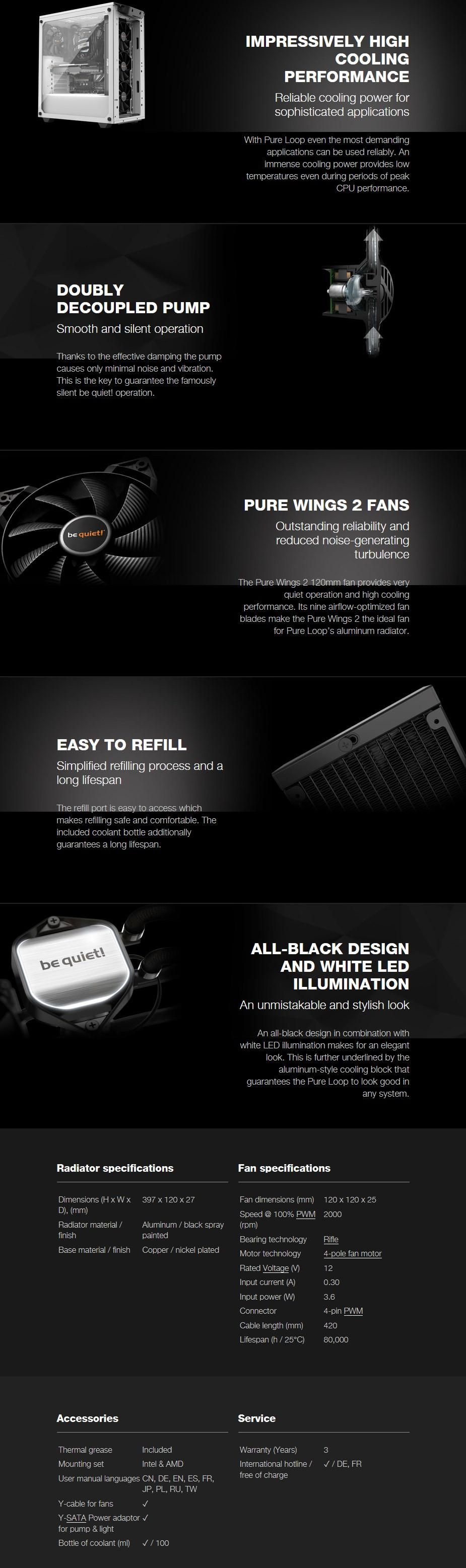 be quiet Pure Loop 360mm Liquid CPU Cooler - Overview 1
