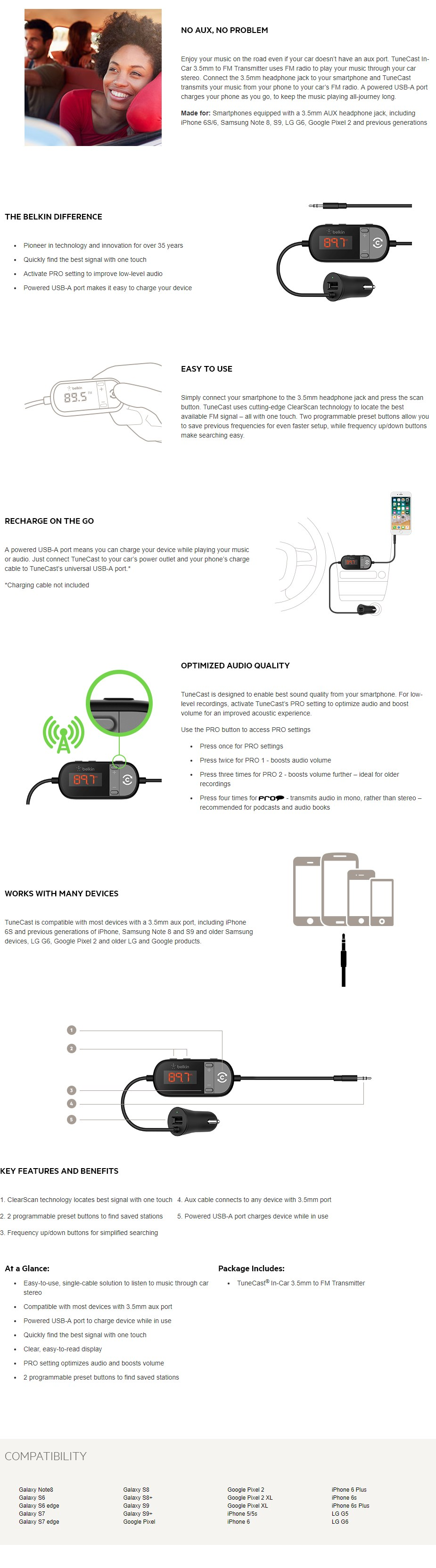 Belkin Tunecast In-Car 3.5mm to FM Transmitter - Overview 1