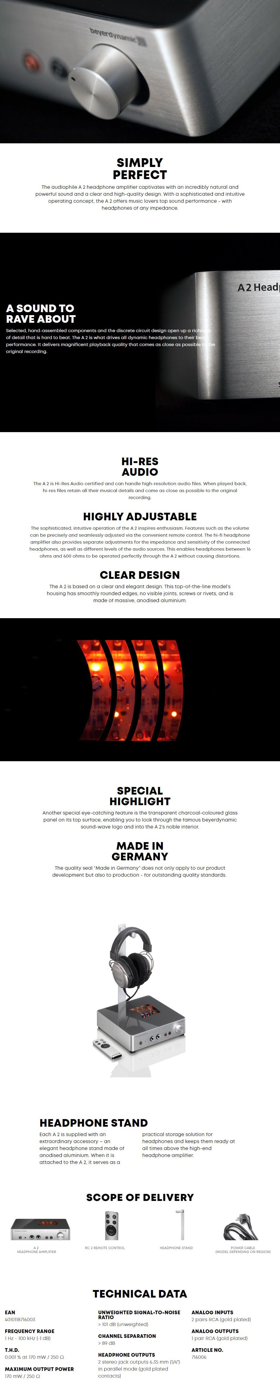 Beyerdynamic A2 Audiophile headphone amplifier - Desktop Overview 1