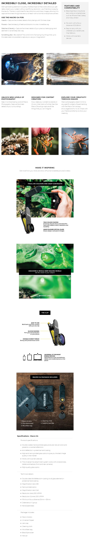 Black Eye Macro G4 Phone Lens - Overview 1
