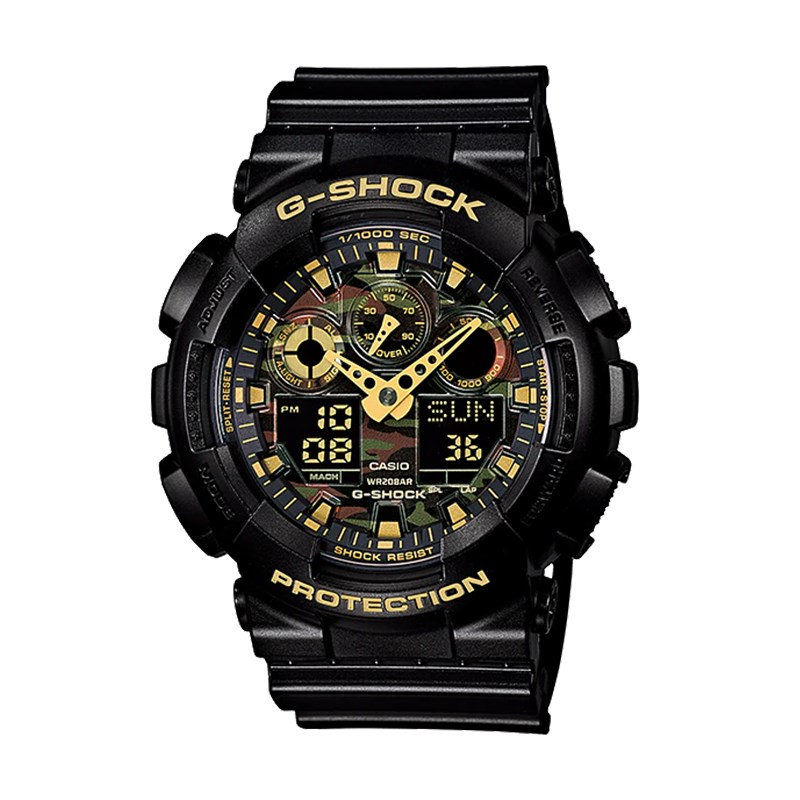 Casio G-Shock Camouflage Analogue/Digital Watch - Black/Gold - Overview 1