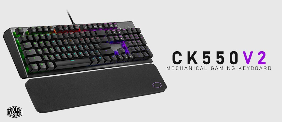 Cooler Master CK550 V2 RGB Mechanical Gaming Keyboard - Blue Switches - Overview 1