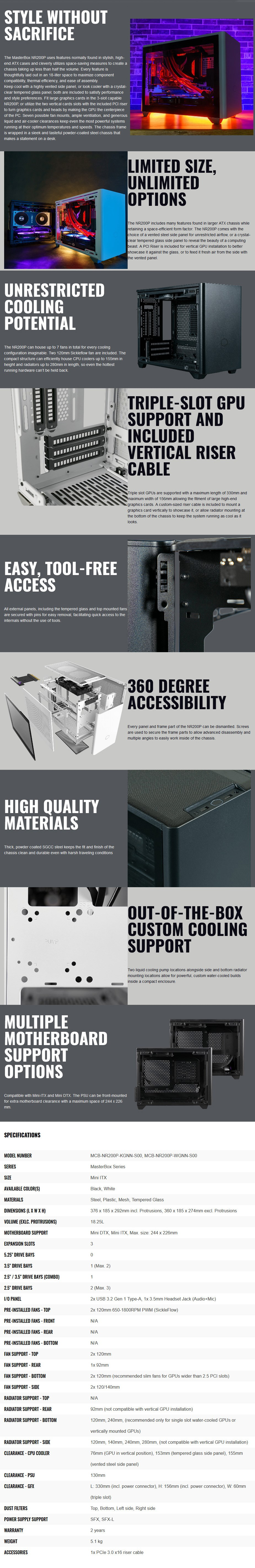 Cooler Master NR200 Tempered Glass Mini-ITX Case - Overview 1