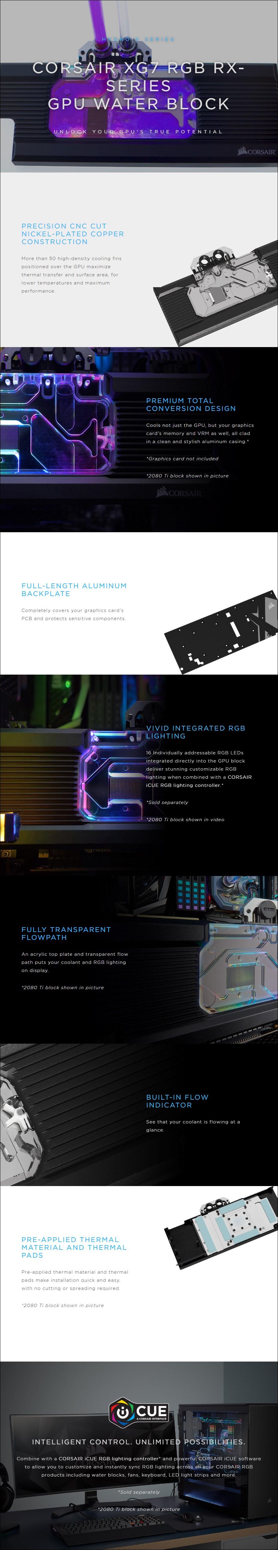 Corsair Hydro X Series XG7 RGB 5700 XT GPU Water Block - Overview 1