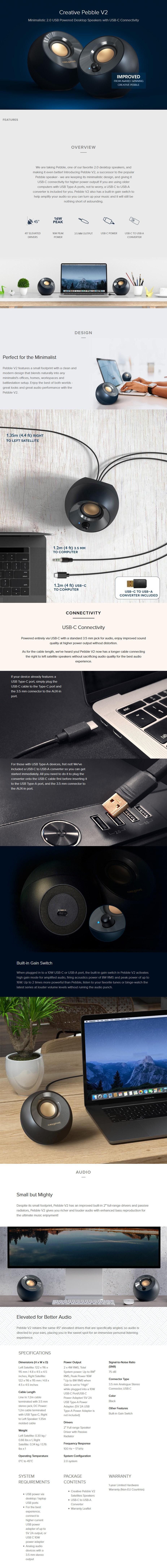 Creative Pebble v2 USB-C Speaker - Overview 1
