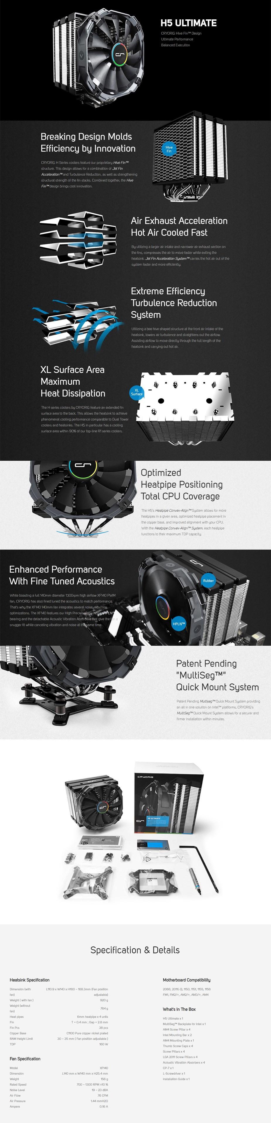 Cryorig H5 Ultimate CPU Cooler - Overview 1