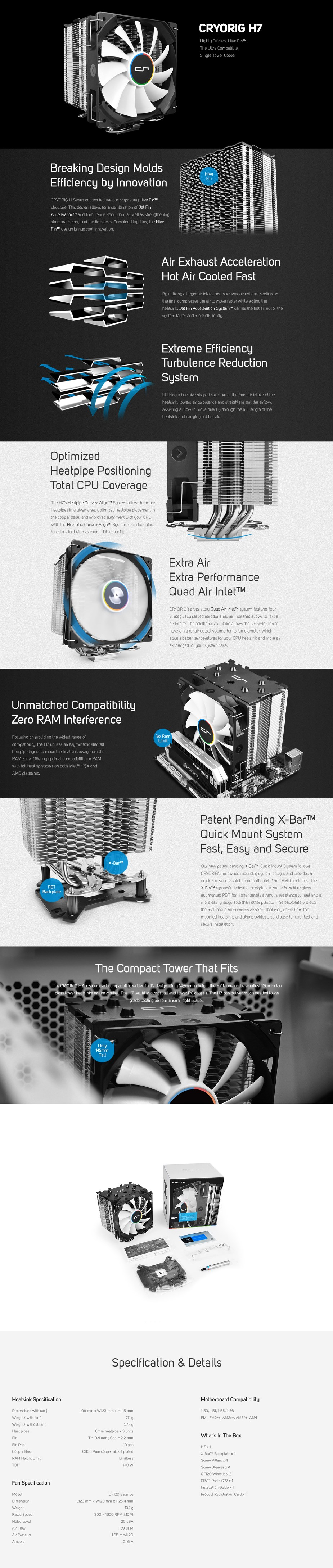 Cryorig H7 CPU Cooler - Overview 1