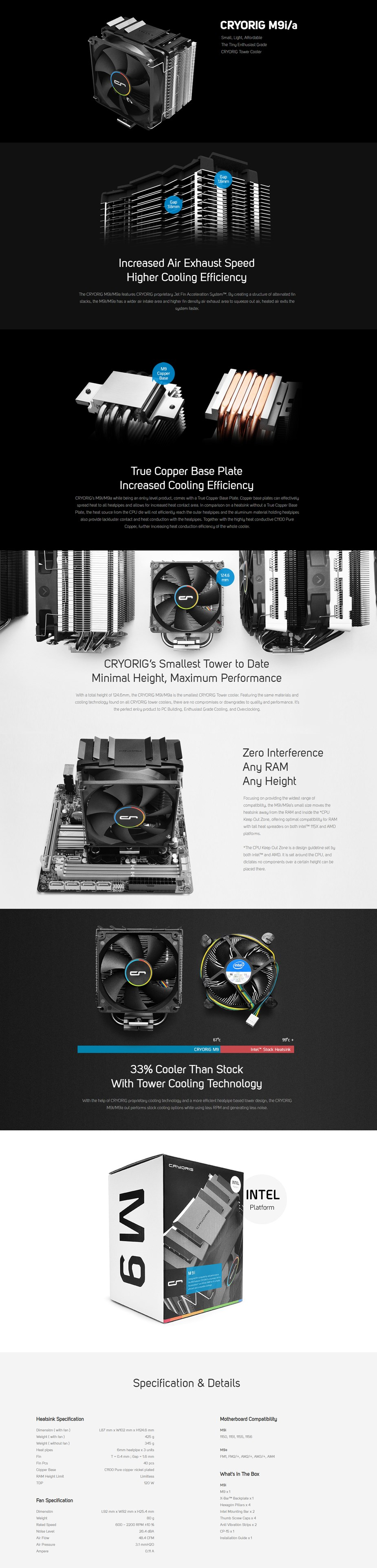 Cryorig M9i CPU Cooler - Overview 1