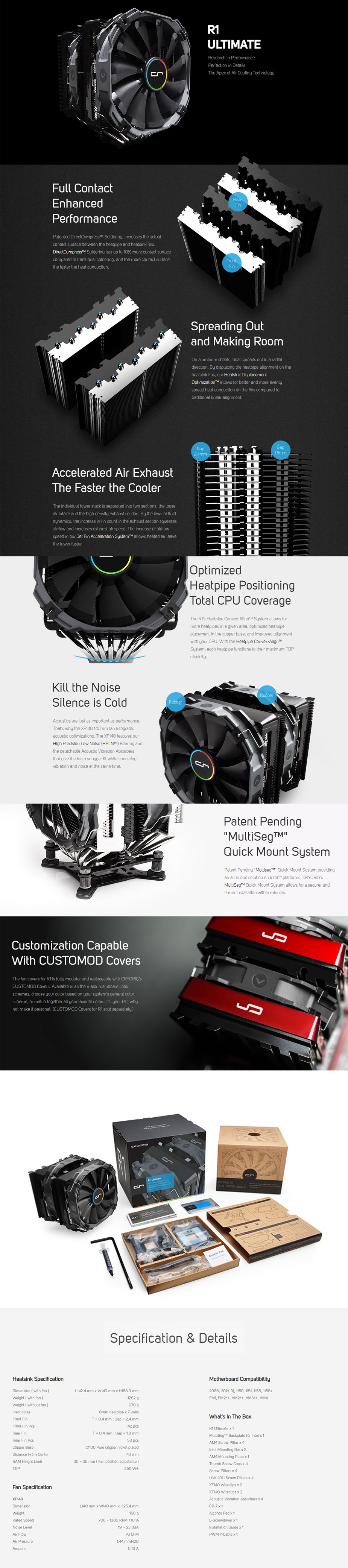Cryorig R1 Ultimate CPU Cooler - Overview 1