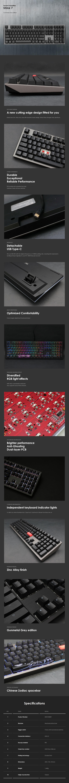 Ducky Shine 7 Grey RGB Mechanical Keyboard - Cherry MX Brown - Overview 1