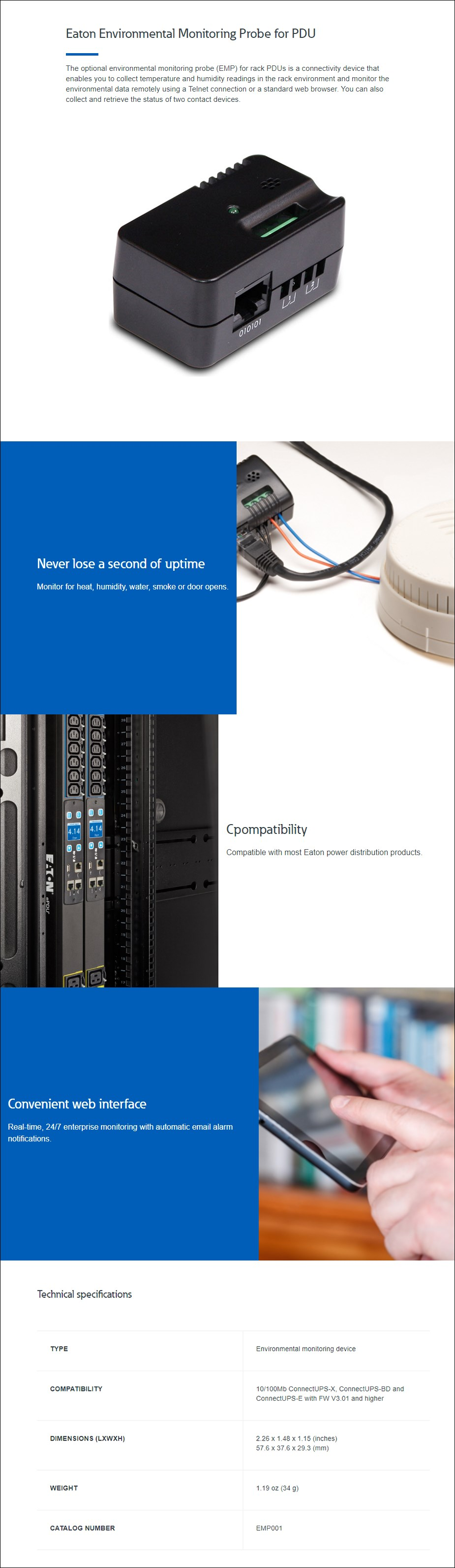 Eaton EMP001 Environmental Monitoring Probe - Overview 1