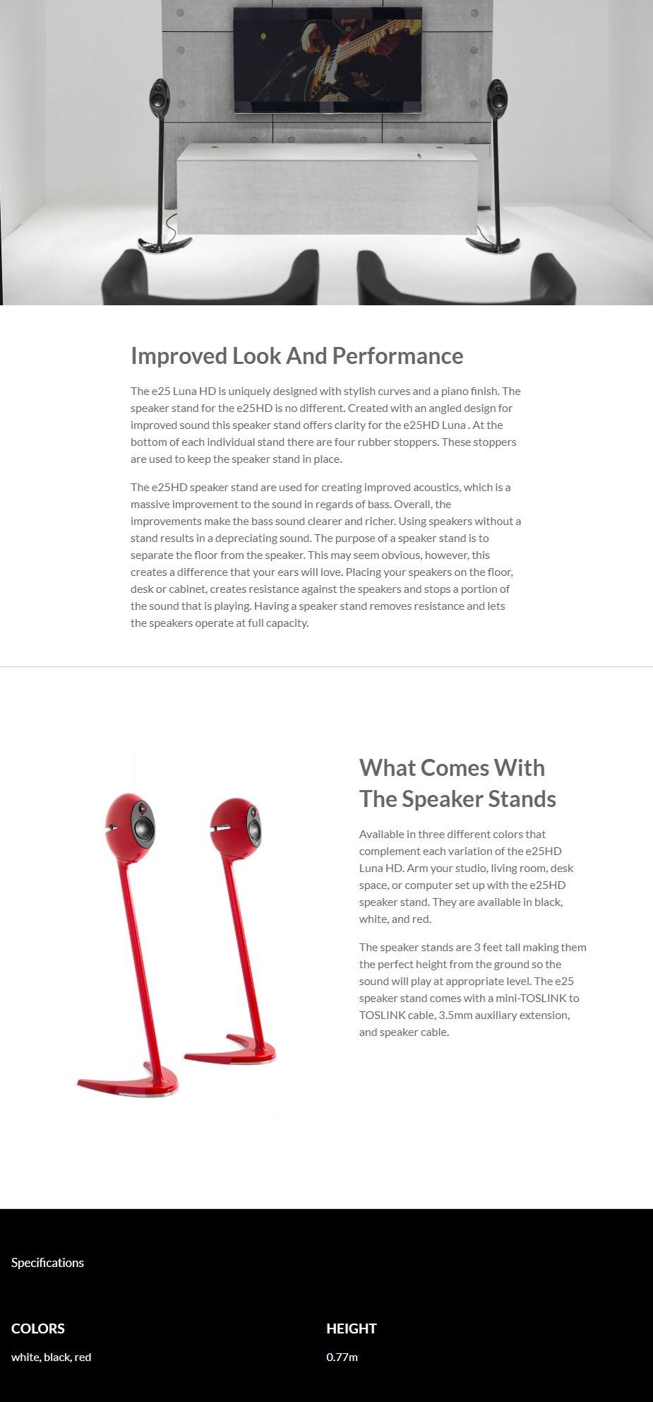 Edifier SS01C Speaker Stands - Red - Desktop Overview 1