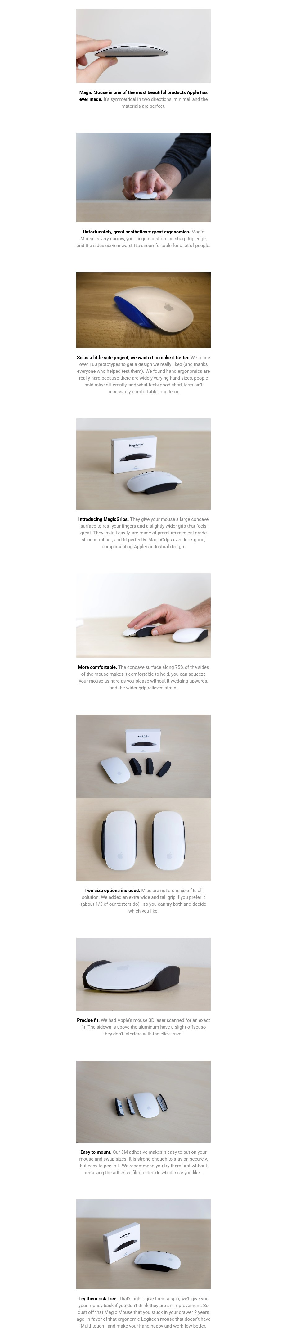Elevation Lab Magic Grips For Magic Mouse - Overview 1