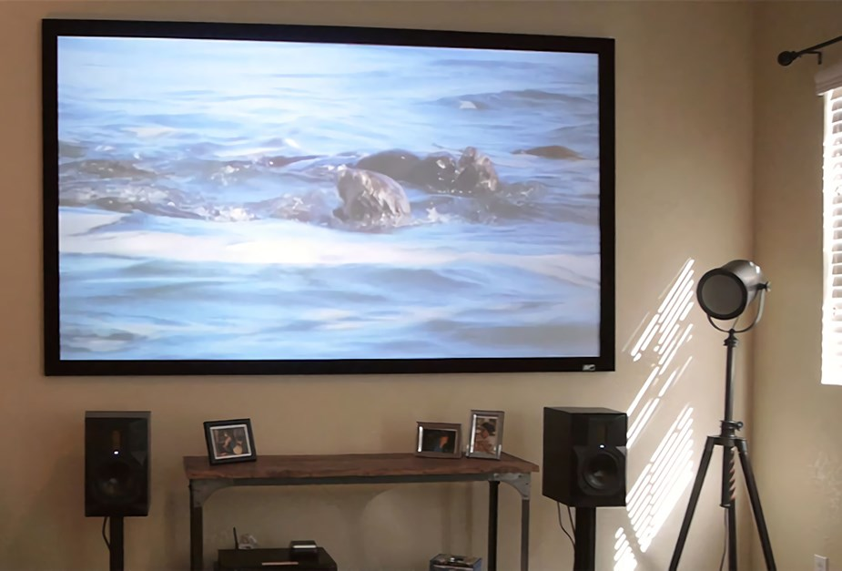 Elite Screens ezFrame Acoustic4K Fixed Projection Screen - Overview 1