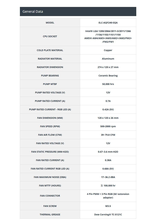 Enermax AQUAFUSION 240 RGB Liquid CPU Cooler - Overview 2