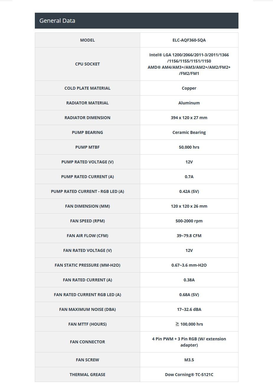 Enermax AQUAFUSION 360 RGB Liquid CPU Cooler - Overview 2