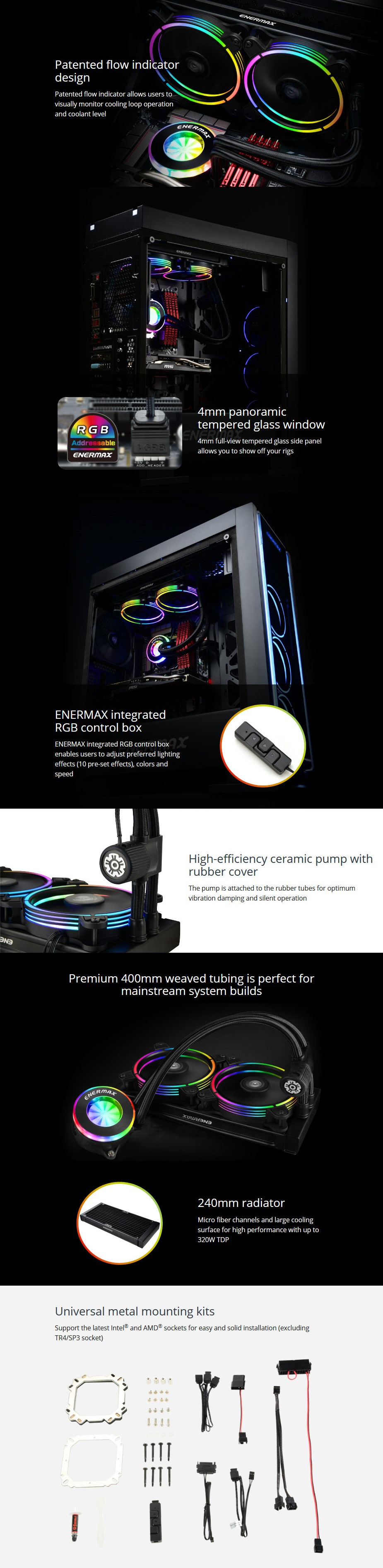 Enermax LIQFUSION 240 RGB Liquid CPU Cooler - Overview 1