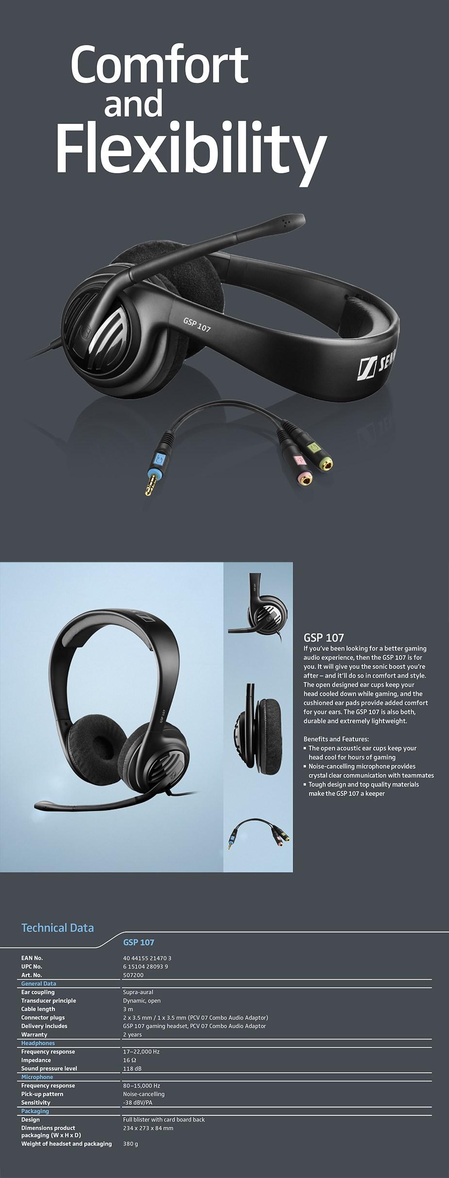 EPOS Sennheiser GSP 107 Stereo Gaming Headset - Overview 1