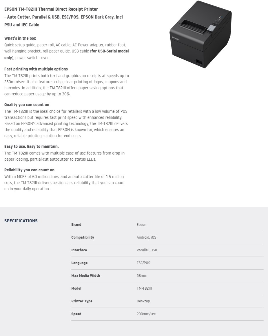 https://d284x0ytlho6sy.cloudfront.net/images/400/epson_tmt82iii_thermal_receipt_printer_usb_ac30441_1.jpg - Overview 1