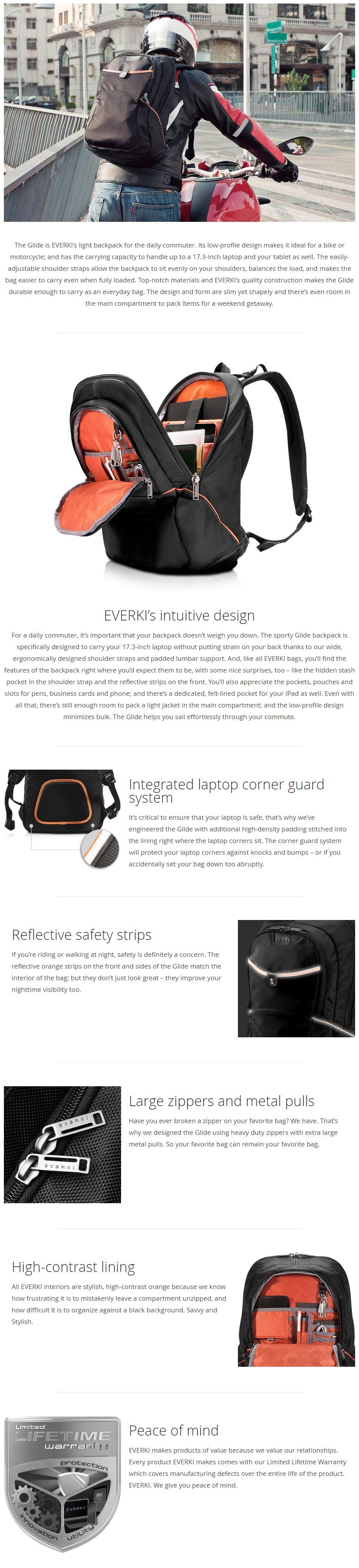 """Everki 17.3"""" Glide Backpack - Overview 1"""