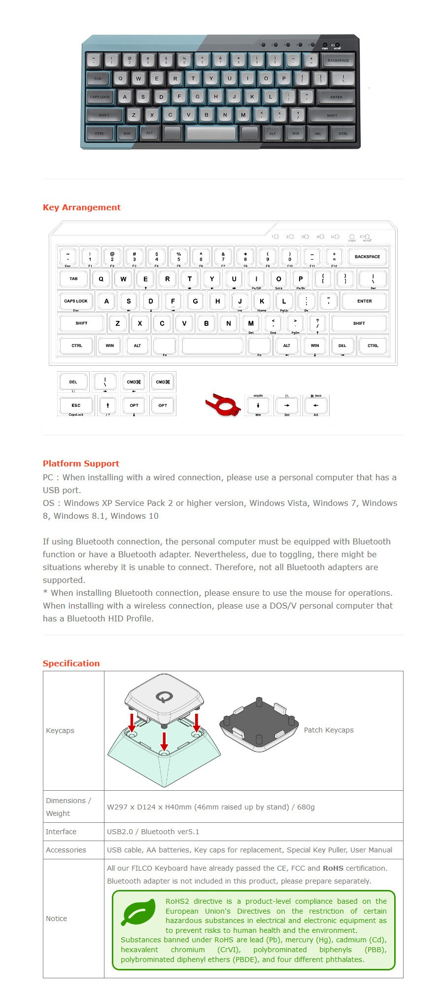 Filco Majestouch MINILA-R Convertible Keyboard - Overview 1