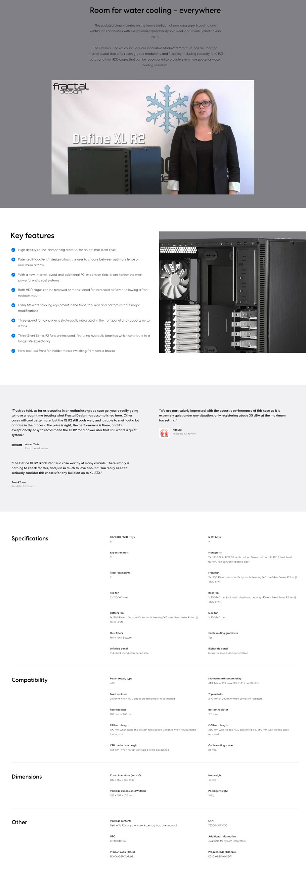 Fractal Design Define XL R2 Full-Tower XL-ATX Case - Black - Overview 1