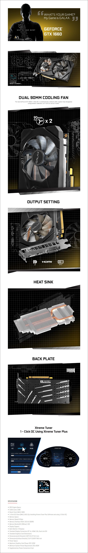 Galax GeForce GTX 1660 1-Click OC 6GB Video Card - Overview 1