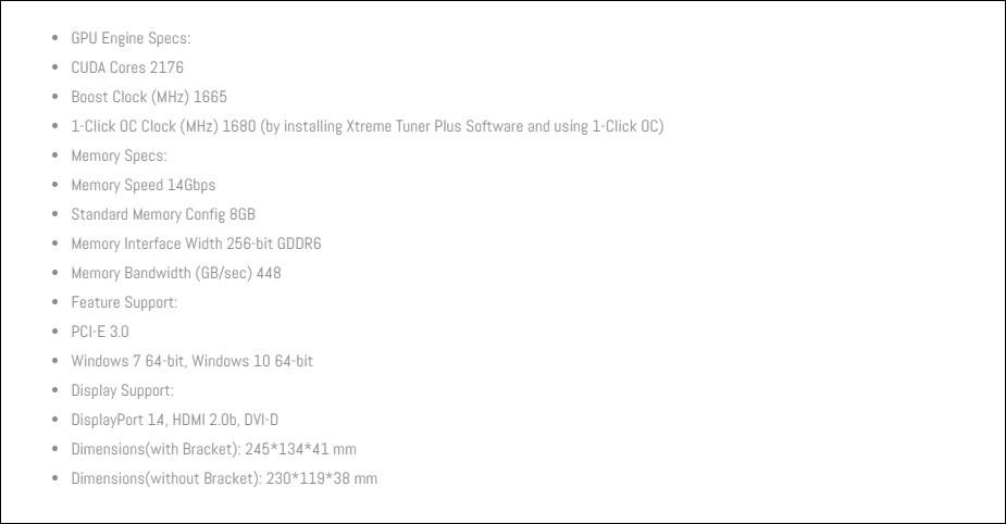 GALAX GeForce RTX 2060 SUPER 1-Click OC 8GB Video Card - Overview 2