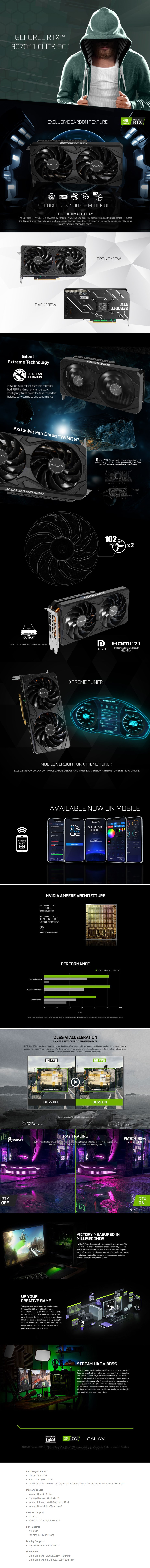 GALAX GeForce RTX 3070 1-Click OC 8GB Video Card - Overview 1