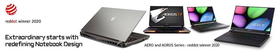"""Gigabyte AERO 15 15.6"""" 144Hz Laptop i7-10750H 16GB 512GB RTX2060 W10H - Reddot Banner"""