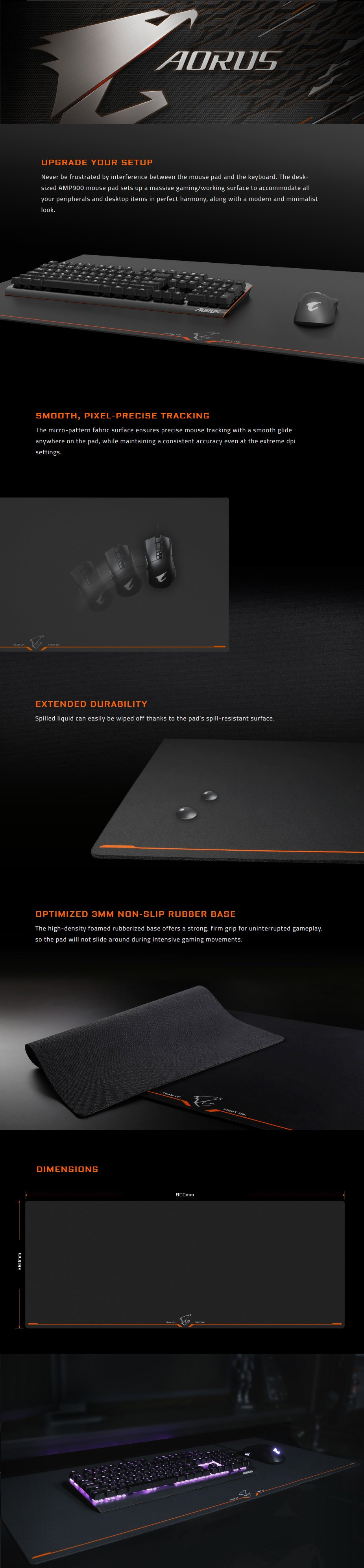 Gigabyte AORUS AMP900 Extended Gaming Mouse Pad - Overview 1