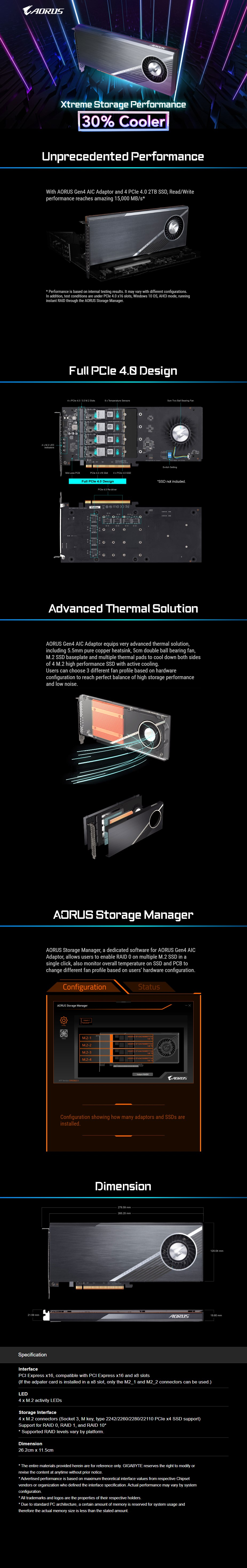 Gigabyte AORUS Gen 4 PCIe AIC SSD Adaptor - Overview 1