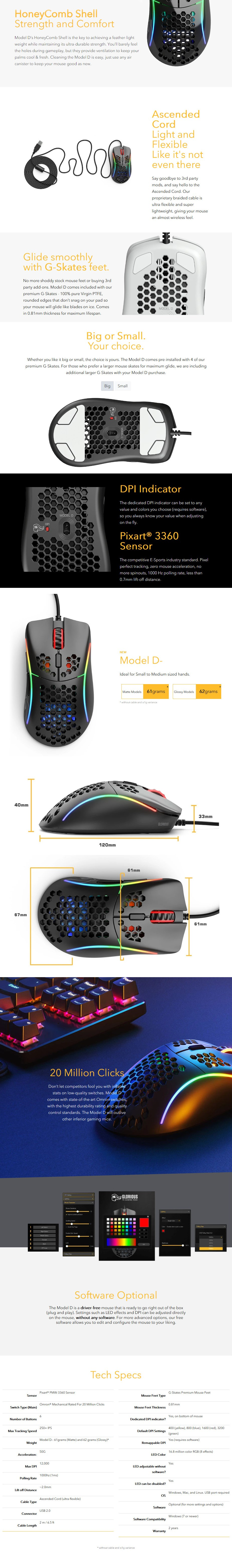 Glorious Model D- Gaming Mouse - Matte Black - Overview 1