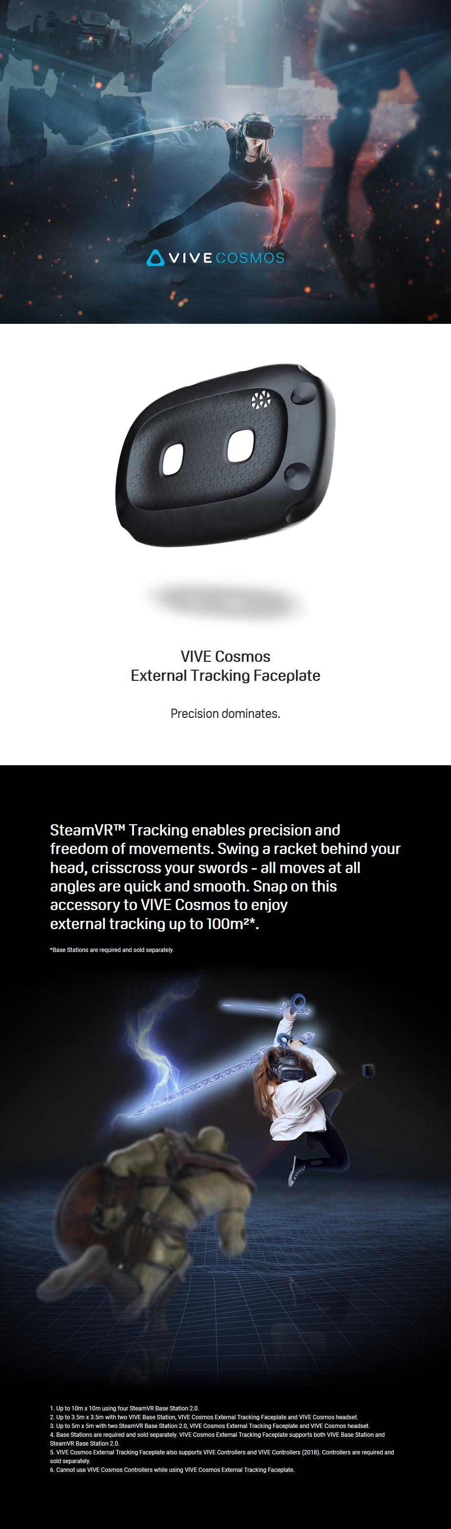 HTC Vive Cosmos External Tracking Faceplate - Overview 1
