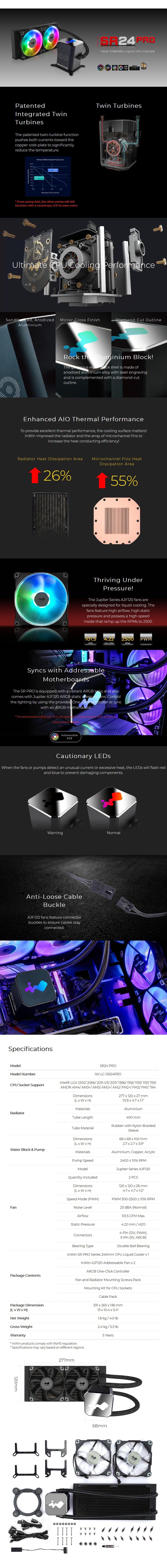 In Win SR24 Pro 240mm ARGB All-in-One Liquid CPU Cooler - Desktop Overview 1